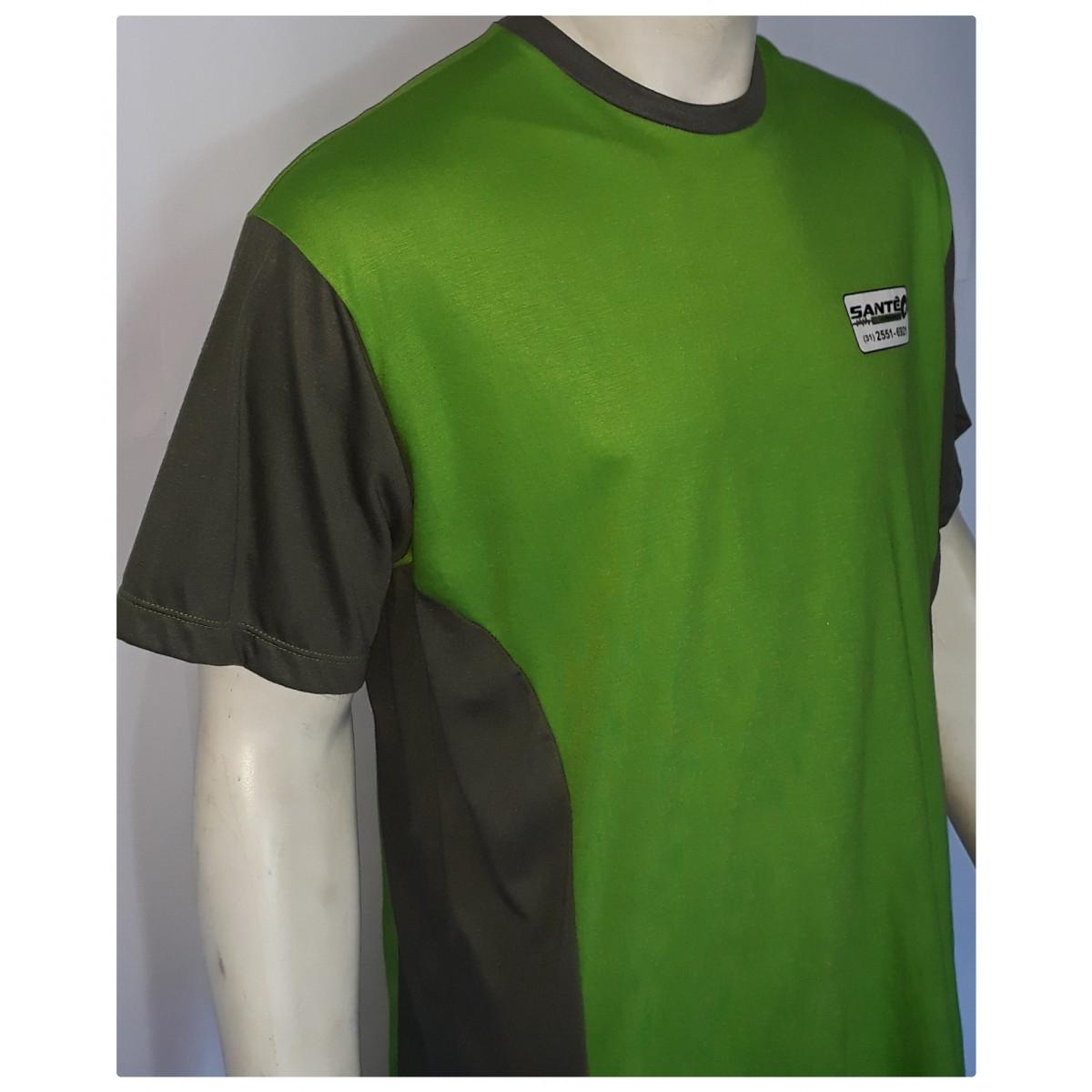 Camisa básica em malha com recorte